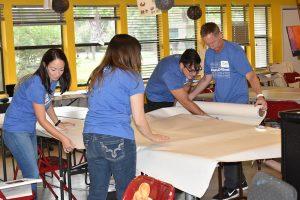 Preparing art tables