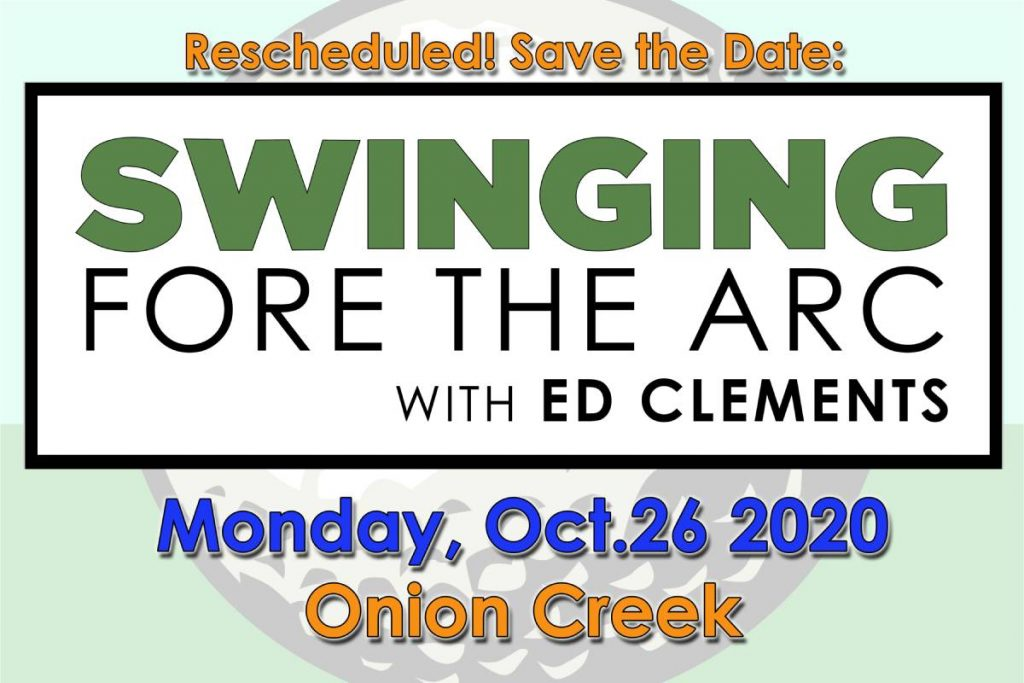 Click here to register for Swinging for The Arc with Ed Clements